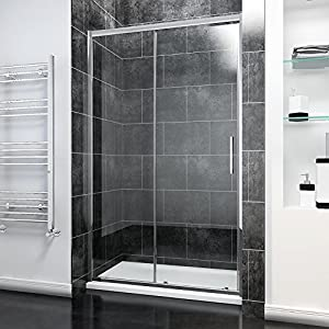 1200mm Sliding Shower Door Modern Bathroom 8mm Easy Clean Glass Shower Enclosure Cubicle Door