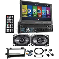 97-02 JEEP WRANGLER TJ Car Navigation GPS DVD Player+Kicker Speakers+Wire Kits