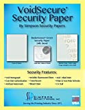VoidSecure 24 lb. Bond Green – Basketweave Pattern Security Paper 34 x 22 (1,500 Sheets)