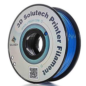 3D Solutech Real Blue 1.75mm ABS 3D Printer Filament 2.2 LBS (1.0KG) - 100% USA by 3D Solutech