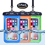 Beylife Waterproof Case, Universal Waterproof Phone Case, Transparent TPU iPhone Waterproof Pouch Cell Phone Dry Bag with Durable Lanyard for device up to 6 inch