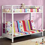 Best Walker Edison Bunk Beds - Walker Edison Twin-Over-Futon Metal Bunk Bed, White Review