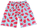 Vska Couples Matching Watermelon Print Soft Swim Trunk Swimwear Men L