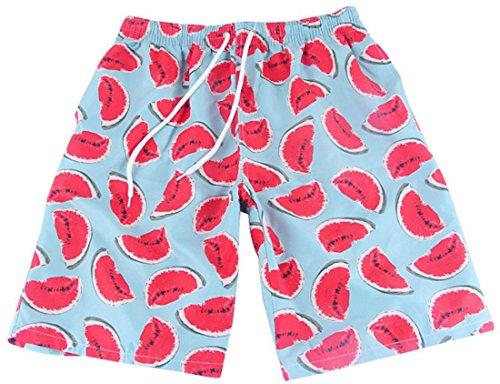 Vska Couples Matching Watermelon Print Soft Swim Trunk Swimwear Men L by Vska
