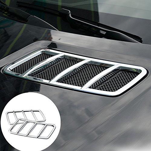 - HOTRIMWORLD ABS Chrome Exterior Front Hood Air Vent Outlet Trim Cover 2pcs for Mercedes-Benz GLS Class X166 2015-2019