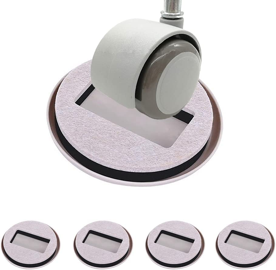 Furniture Wheel Stopper Bed Stopper Caster Cup,Suitable for All Kinds of Furniture on Wheels,5 Fixing Pads,Fixed Standing castors for Wood Floor/Carpet