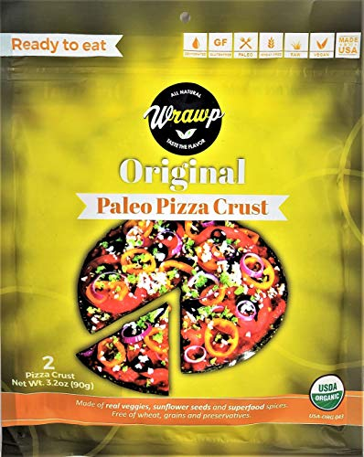 Paleo Pizza Crust | Flavored Organic Gluten Free, Dairy Free, Soy Free, Nut Free and Vegan Pizza Crust (Original, 2 Pack)