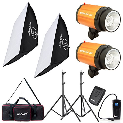 Neewer 600W Photo Studio Monolight Strobe Flash Light and Softbox Lighting Kit with Light Stand, RT-16 Wireless Trigger and Carrying Bag for Video Shooting, Location and Portrait Photography(C-300) by Neewer