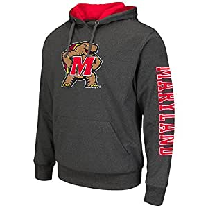 Mens NCAA Maryland Terrapins Pull-over Hoodie (Heather Charcoal) - 2XL