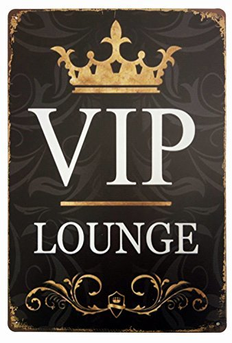 VIP Lounge Tin Sign Wall Retro Metal Bar Pub Poster Metal 12X16 Inches