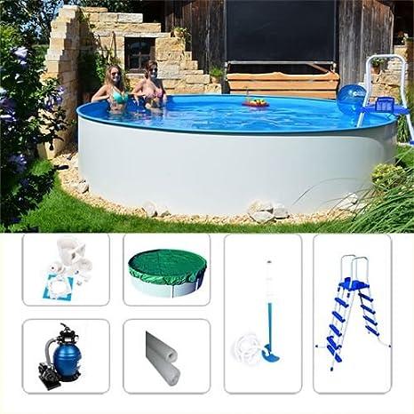 Juego de pared Pool Acero FUN de V-Zon 4, 20 x 1, 20 m Piscina (pantalla Platillos: Amazon.es: Jardín