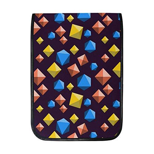 (Diamond Orange Blue and Yellow Fashion Handmade Case Protective Cover Travel Bag for iPad Pro)