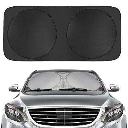 Dealpeak Multipurpose Car Sun Shade Auto Snow Cover Folding Windshield Cover Visor Guard Protector Blocked &Reflective UV ,Waterproof, Ice,Frost