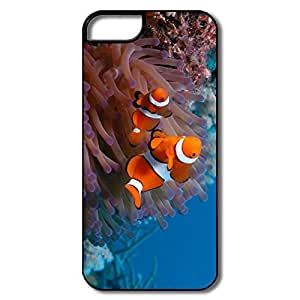 IPhone 5/5S Covers, Clownfish Sea Anemone White/black Cases For IPhone 5 5S