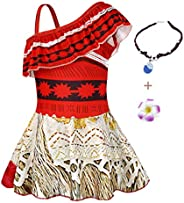 AmzBarley Moana Swimsuit Girls Princess Tankinis Swimwear Summer Beach Clothes