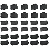 WGCD 30 PCS Universal Laptop Silicon Dust Plugs Protector Stopper Cover for Ethernet Hub Port RJ45, USB A Type Socket, HDMI Female Port