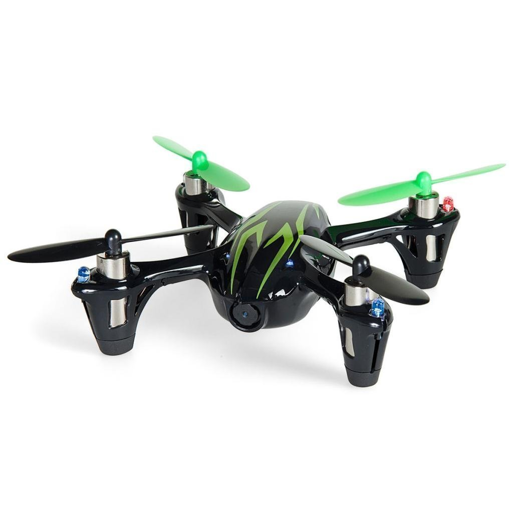 Hubsan X4 H107C 2.4G 4CH RC Quadcopter With HD 2 MP Camera RTF Nero-Verde