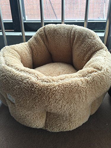 "Cat Cuddler Dog Bed Deep Dish Comfort Puppy Nest for Small Pets 20″X20″X9(12)"" PUPTECK 51vhTnIKYiL"