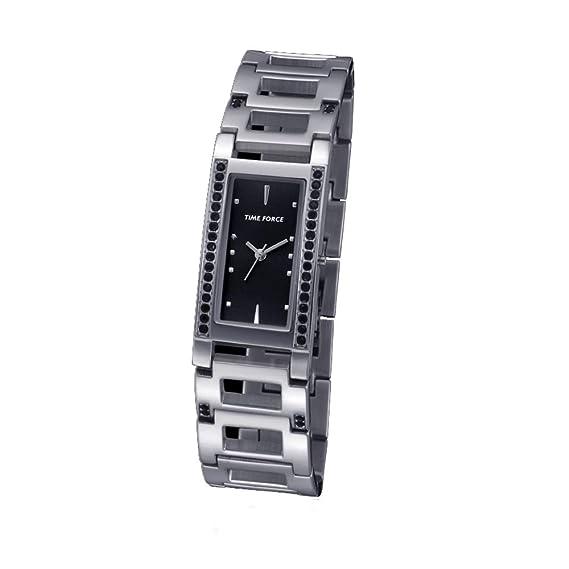 Time Force Reloj Analógico para Mujer de Cuarzo con Correa en Acero Inoxidable TF4081L01M: Amazon.es: Relojes