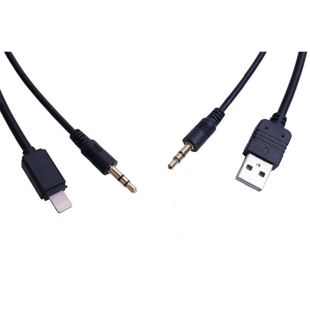 berfea Auto coche USB 3,5/ mm AUX Cable adaptador interfaz para BMW Mini Cooper Core para iphone 5/ 5S 6/ ipod cable r/ápida transferencia de datos