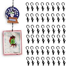 """Hang or Clip Almost Anywhere Kids Art Craft Display 48 Clip Hook Set Stainless Steel, Each Hook Is in 0.5"""" Diameter … …"""