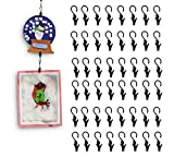 kids art display hanger - Wallniture Multipurpose Hanging Clip Set for Art and Crafts Steel Black 0.5 Inch 48 Clips