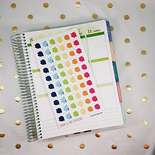 Piggy Bank Icon (Piggy Bank Money Savings Budget Pay Day Icon Matte Repositionable Planner)