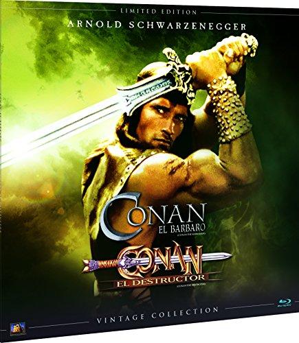 Conan 1+2 Colección Vintage (Funda Vinilo) Blu-Ray -Conan: Quest (Barbarian / Destroyer) Complete Collection Vinil [Non-usa Format: Pal -Import- Spain ]