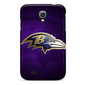 Samsung Galaxy S4 YVS7113JwlA Allow Personal Design Realistic Baltimore Ravens Series Shock-Absorbing Hard Cell-phone Case -ErleneRobinson
