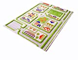 IVI 3D Play Rugs, Traffic Green, 52.5x71 Inches