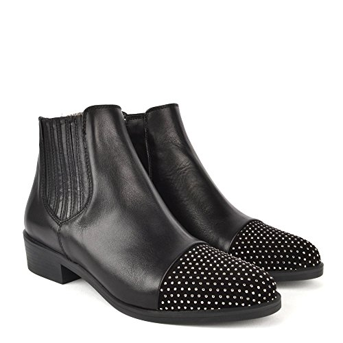 Kanna Noir Femme Nola cuir Noir en Bottines Chaussures PPn7H
