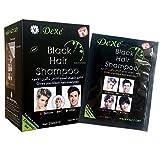Black Hair Dye Shampoo, Spdoo Natural Plant Instant Black Hair Dye, Easy Wash, Perfect Color, Natural Ingredients, Does Not Damage Hair, 10 pcs/Set (Black)