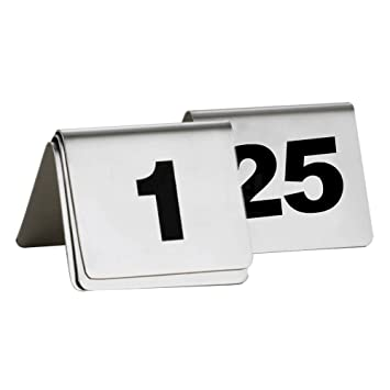 Amazoncom MyLifeUNIT Table Number Sign Stainless Steel Table - Stainless steel table numbers