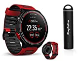 Coros PACE Multisport GPS Watch Power Bundle | Includes PlayBetter Portable USB Charger, USB Cable | Wrist Heart Rate, VO2 Max, Elevation, Running Metrics, Stride Algorithm (Power Bundle, Red)