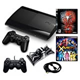 Playstation 3 Slim 500GB Bundle w/ Two Games (Spiderman 3 & and X-MEN Destiny) Accessories