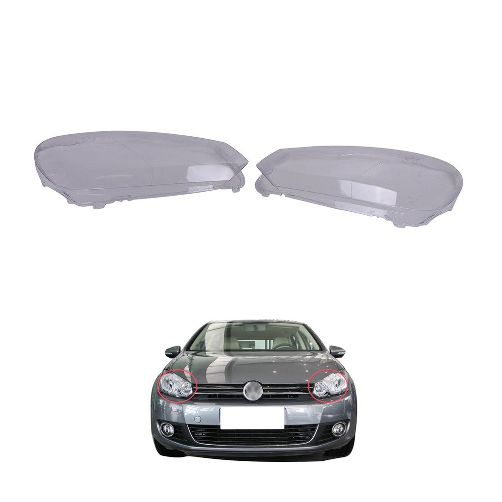 General Mega 1 Pair Headlight Lens Plastic Shell Cover 1987 Volkswagen Golf Wiring For Vw Mk6 Gti 2010 2013 Automotive