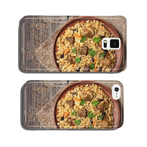 Arabic national rice food called pilaf cooked with fried meat cell phone cover case Samsung S5 (Arabic Cell Phone)