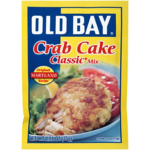 Crab Bay Old Cakes (Old Bay Crab Cake Classic Crab Cake Mix, 1.24-Ounce Packets (Pack of 12))