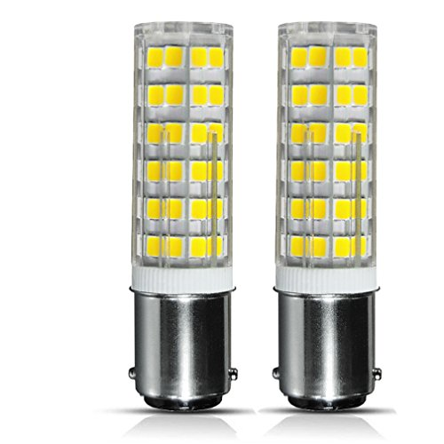 Ba15d Double Contact - shanshui trading co., ltd [2-pack] Ba15d Double Contact Bayonet Base LED Light Bulbs 120 Volts 6 Watts 650lm Daylight White 6000k, T3/T4/C7/S6 LED Halogen Replacement Bulb