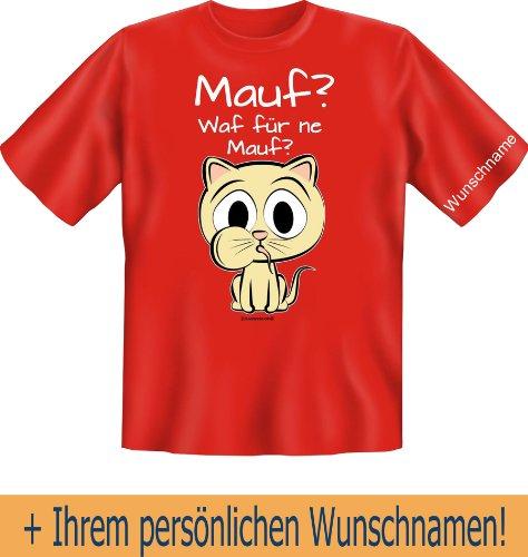 T-Shirt mit Wunschname - Maus - Was für eine Maus? Süße Katze - Lustiges Sprüche Shirt als Geschenk für Katzen Fans mit Humor - NEU mit persönlichem Namen