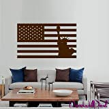 Wall Decal Decor Decals Sticker Art American Flag Vest the Statue of Liberty America a Country USA Room Home Nursery M1635 Made in USA