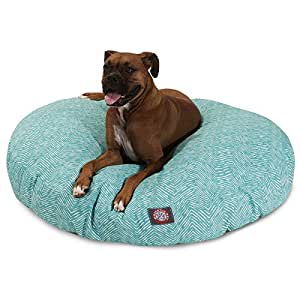 Amazon.com : Teal Native Large Round Indoor Outdoor Pet Dog Bed With ...