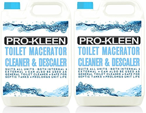 -[ 10L of Pro-Kleen Toilet Macerator Cleaner & Descaler - Highly Concentrated, Long-Lasting For