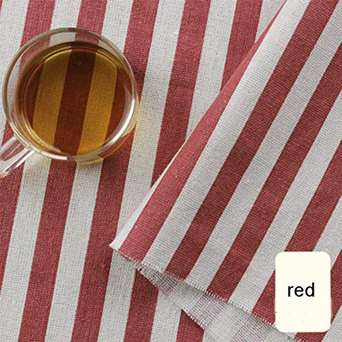 on Linen Natural Fabric Sewing DIY Fabric for Crafts & Decoration 100x150cm Color Wine red Size 2 metres ()