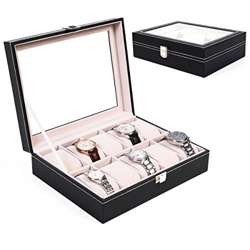 Beautiful Craft Density Board PU Leather Wrist Watch Organizer Display Box Idea For Your Home Jewelry Decoration (10 - Designer Sunglasses Ireland