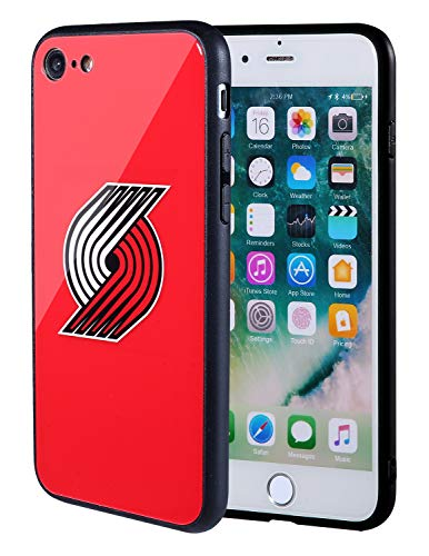 best sneakers 63024 a1530 The Mass iPhone 8 case, iPhone 7 case, NBA Team Logo on Tempered Glass Back  Cover and Soft TPU Frame for Apple iPhone 8 7 (Portland Trail Blazers, 4.7  inch)