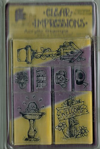 - ProvoCraft Clear Impressions Acrylic Stamp Set - Outdoors - Birds