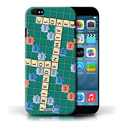 Kobalt® Imprimé Etui / Coque pour Apple iPhone 6/6S / Ennemis Proximité conception / Série Mots de Scrabble