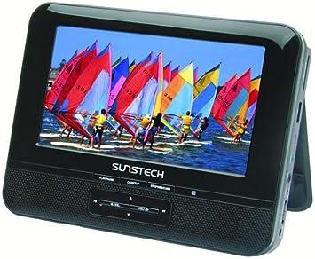 Sunstech DLPM758 - Reproductor de DVD portátil con doble pantalla: Amazon.es: Electrónica