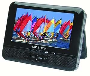 Sunstech DLPM758 - Reproductor de DVD portátil con doble pantalla